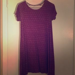 Purple dress or can wear with leggings